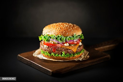 istock Burger with beef and cheese 998309062
