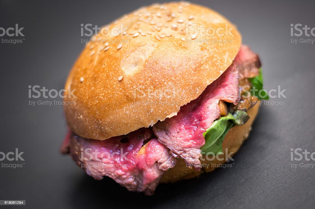 Burger with beef stock photo