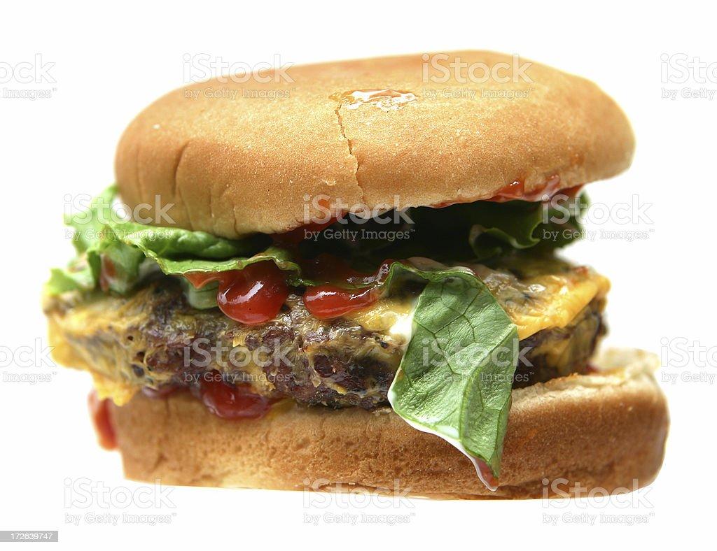Burger you actually pay for stock photo