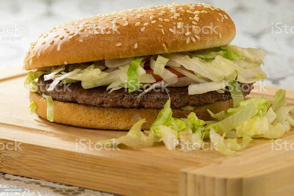 Burgers and fries, fast food hamburger Стоковые фото Стоковая фотография