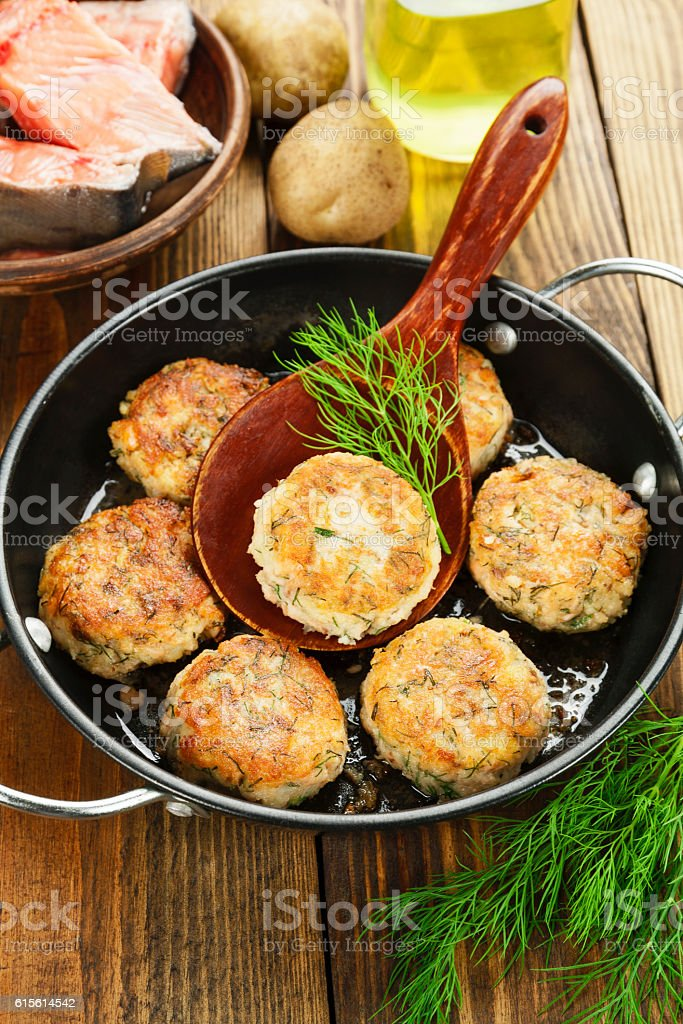 Burgers with fish and potato stock photo