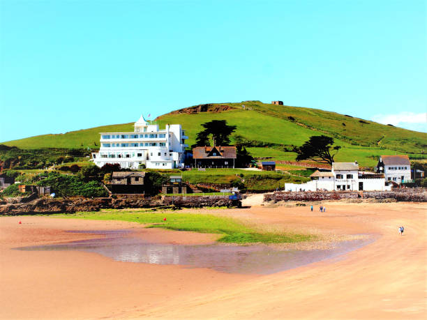 Burgh Island. stock photo