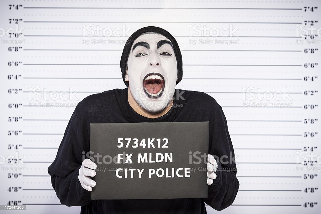 Burglar arrested royalty-free stock photo