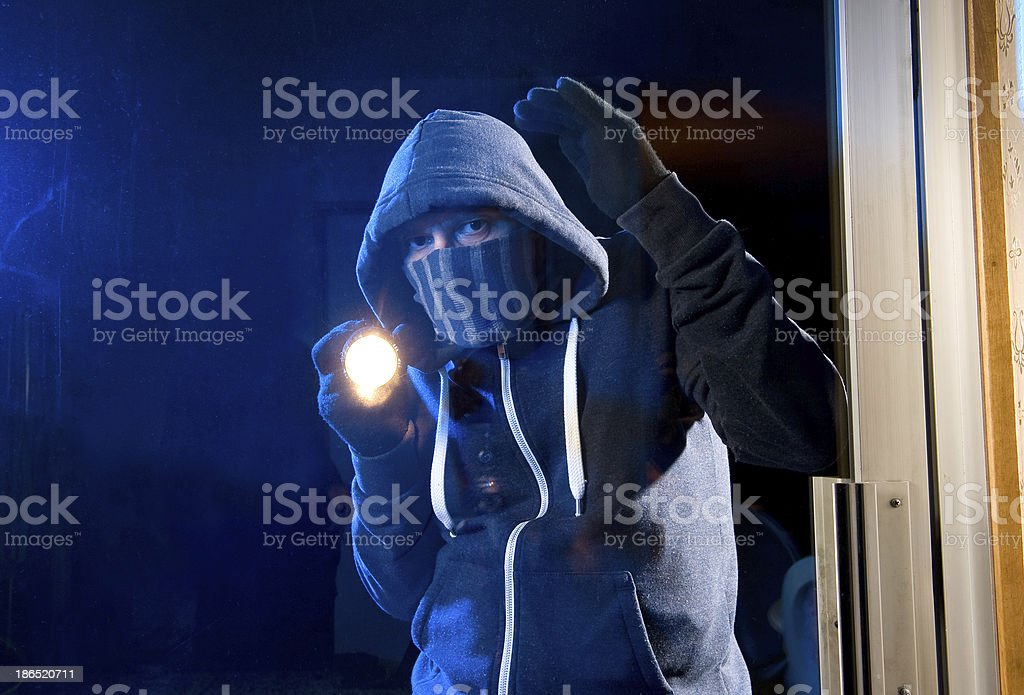 Burglar at work royalty-free stock photo