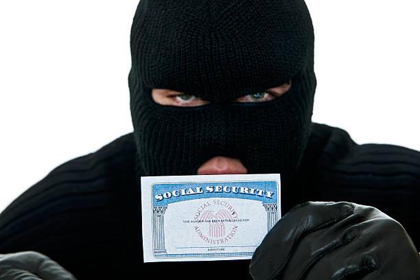 盗難ながらソーシャルセキュリティカードを id の窃盗 - id盗難 ストックフォトと画像