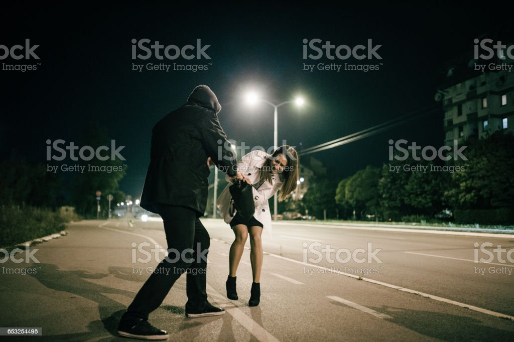 Burglar in action stock photo