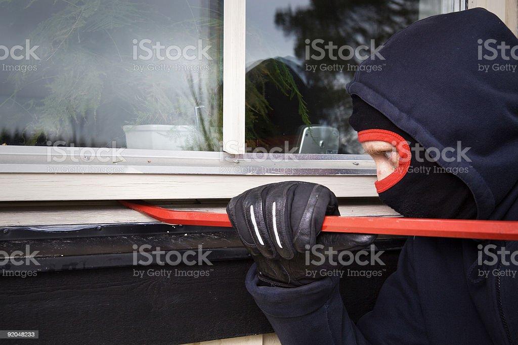Burglar royalty-free stock photo