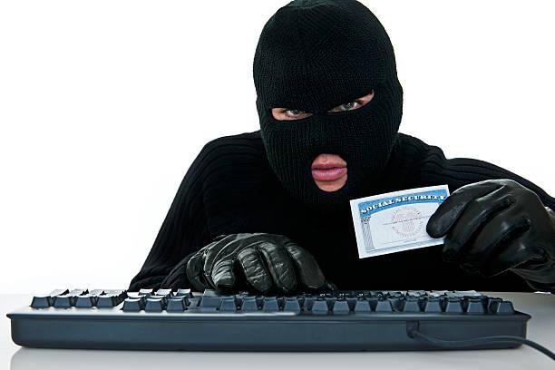 不法侵入窃盗の識別 - id盗難 ストックフォトと画像