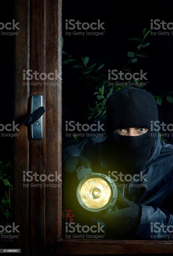burglar window two stock photo