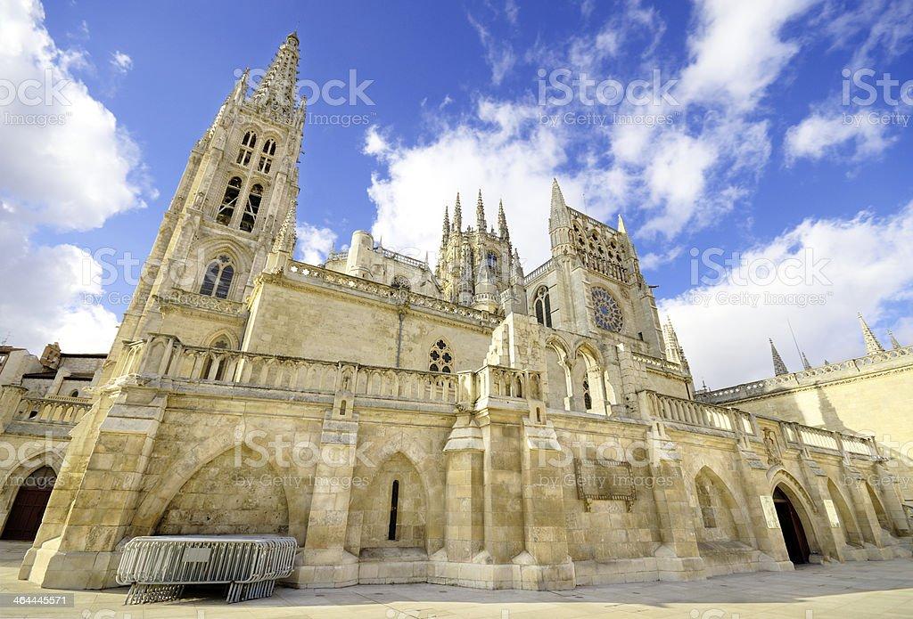 Burgos Cathedral. Famous Spanish Landmark. royalty-free stock photo