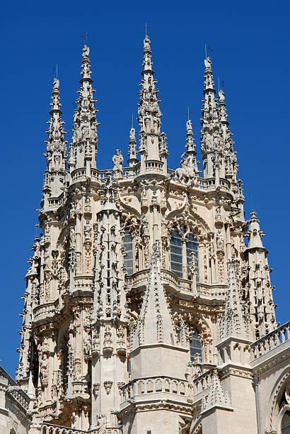 Burgos Cathedral Main Spire stock photo
