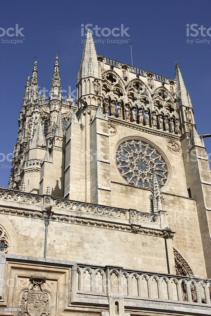 Burgos cathedral royalty-free stock photo