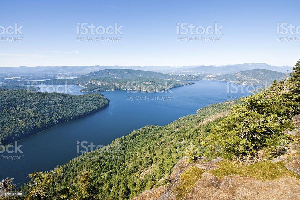 Burgoyne Bay from Mount Maxwell royalty-free stock photo