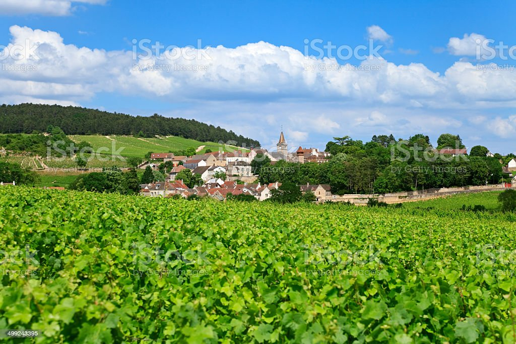 Burgundian Village, France stock photo