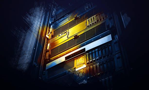 burgunderrote reihe supercomputers daten im zentrum performance-kunst - kreativer speicher stock-fotos und bilder