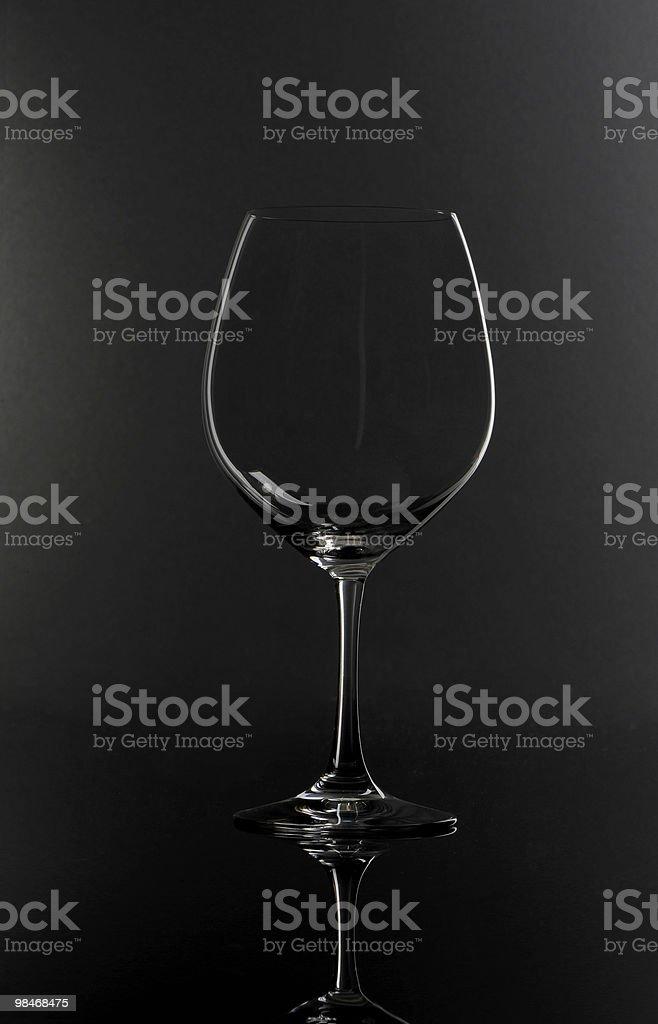 Burgundy Crystal Wine Glass royalty-free stock photo