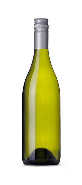 Burgundy Shape Wine Bottle stock photo