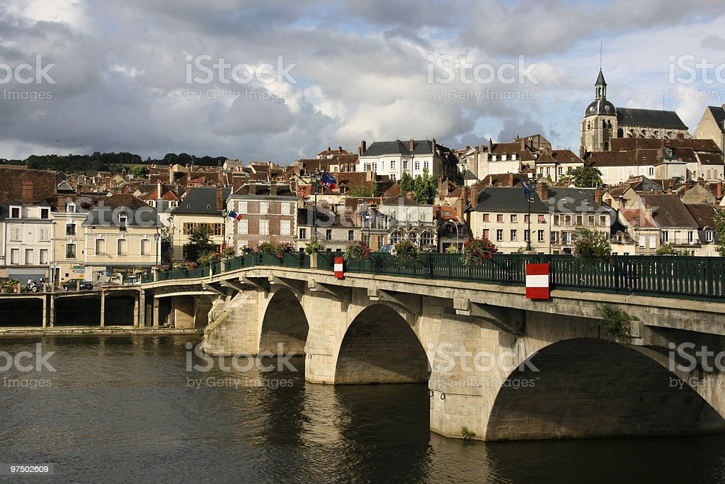 Burgundy town royalty-free stock photo