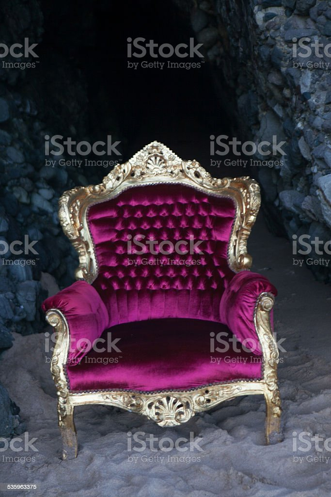 Burgundy Vicorian Chair stock photo