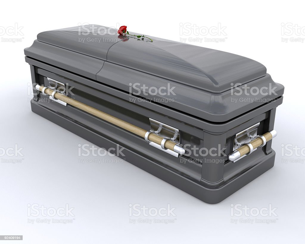 Burial Casket royalty-free stock photo