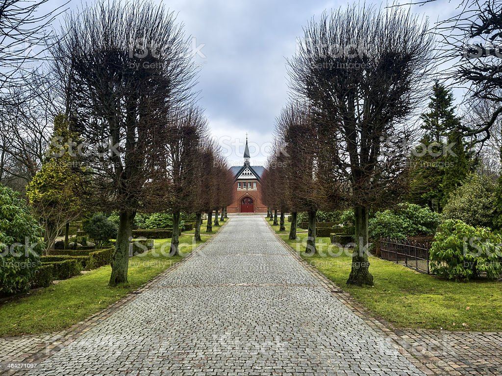 Burial chapel in Esbjerg, Denmark stock photo