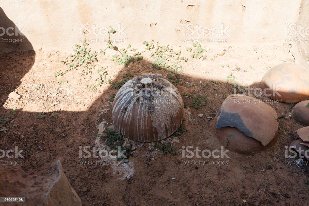 Burial in  kassena village stock photo