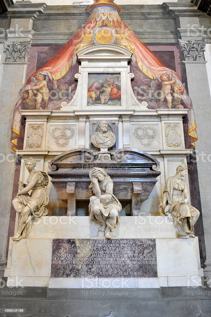 Burial place of Michelangelo stock photo