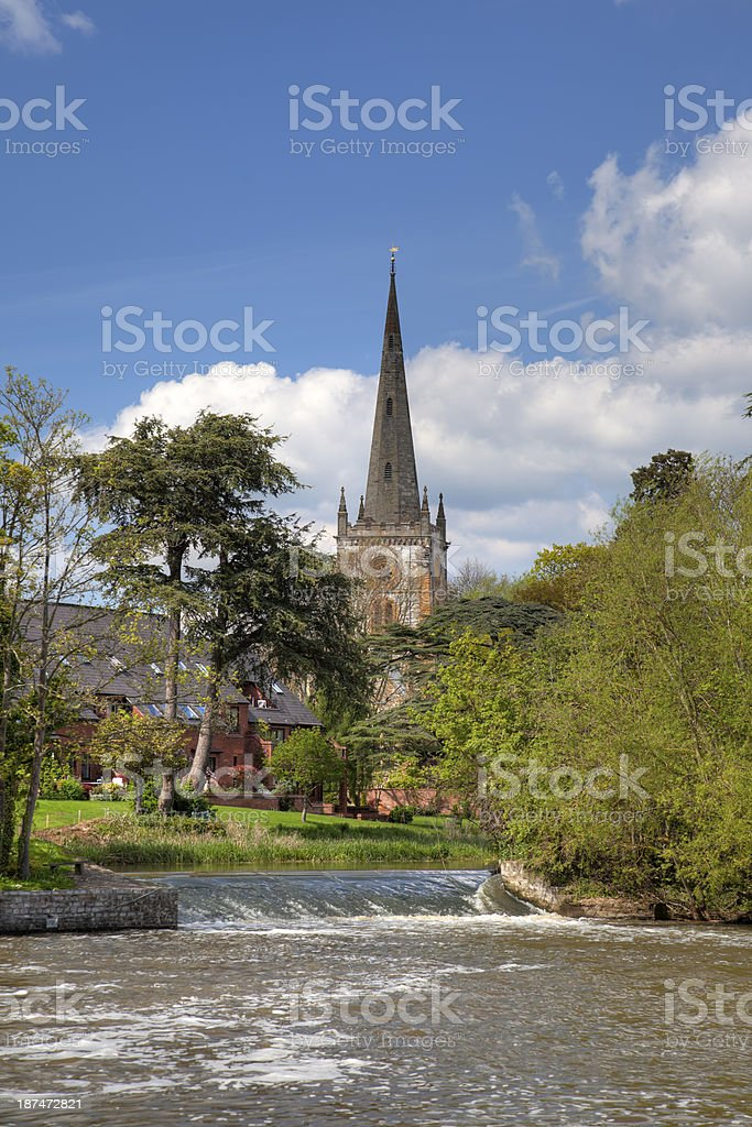 Burial place of William Shakespeare stock photo