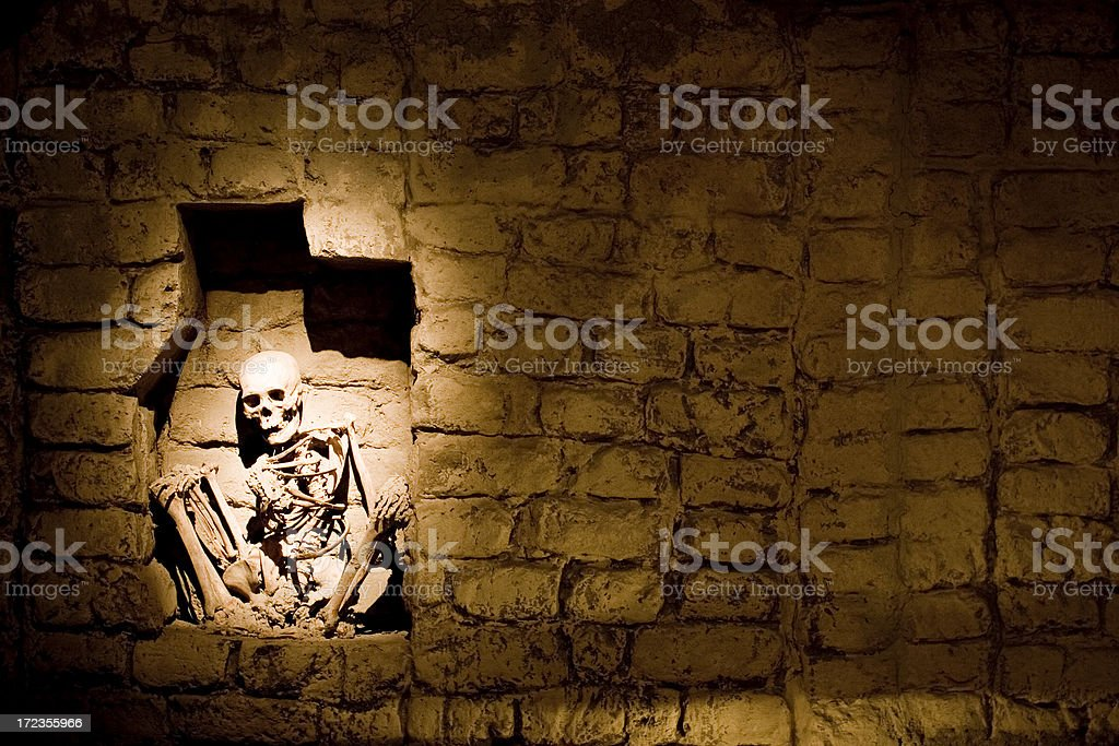 Buried alive royalty-free stock photo