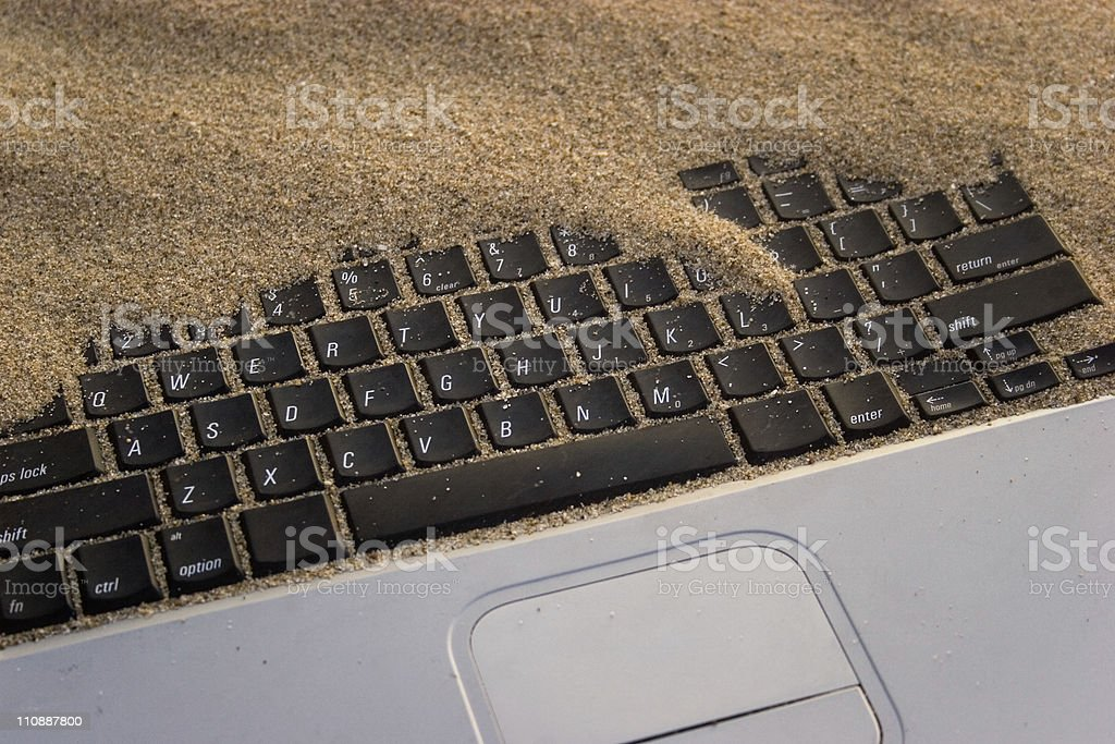 Buried Computer royalty-free stock photo