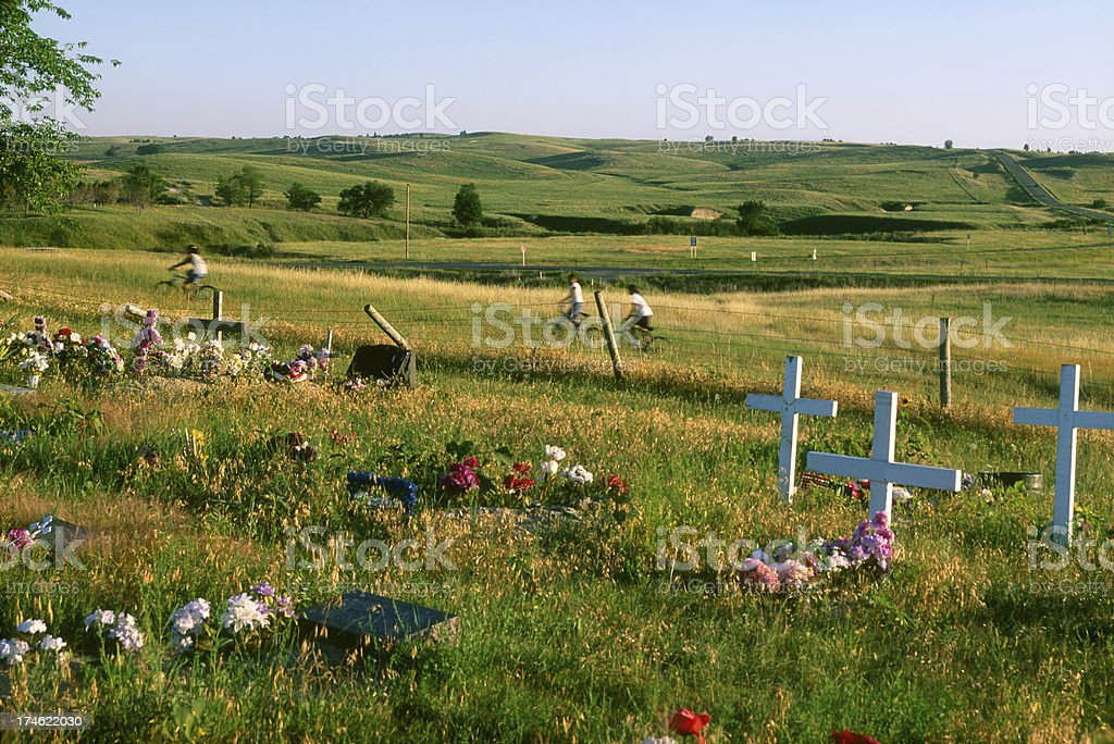 Buried Hearts at Wounded Knee stock photo