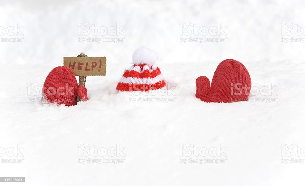 Buried in Snow stock photo