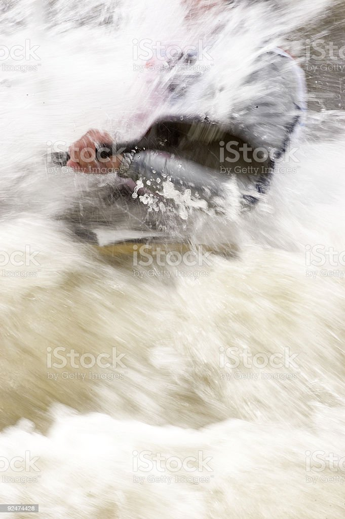 buried in whitewater royalty-free stock photo