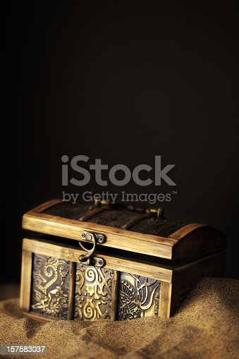 istock Buried Pirates Treasure Chest 157583037
