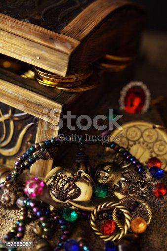 istock Buried Pirates Treasure Chest 157585087