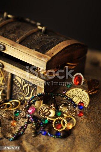 istock Buried Pirates Treasure Chest 157678231