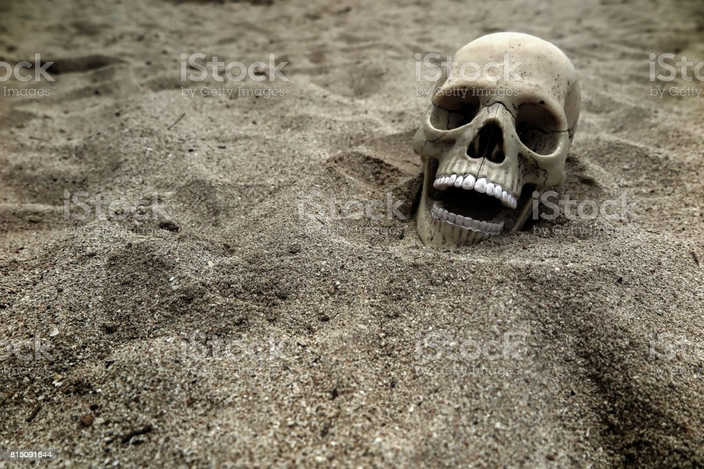 Buried Skeleton stock photo