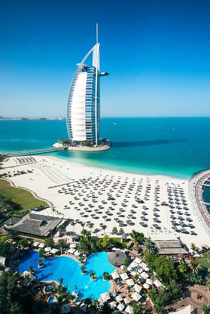 Burj Al Arab Hotel und die marina, Dubai – Foto