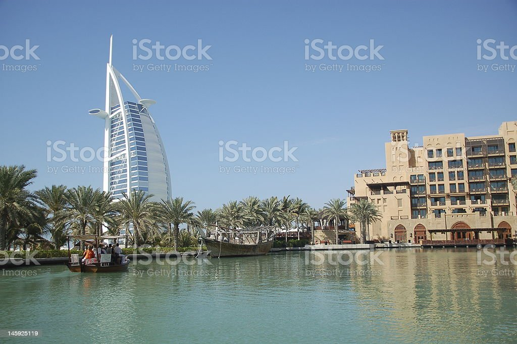 burj al arab hotel dubai royalty-free stock photo