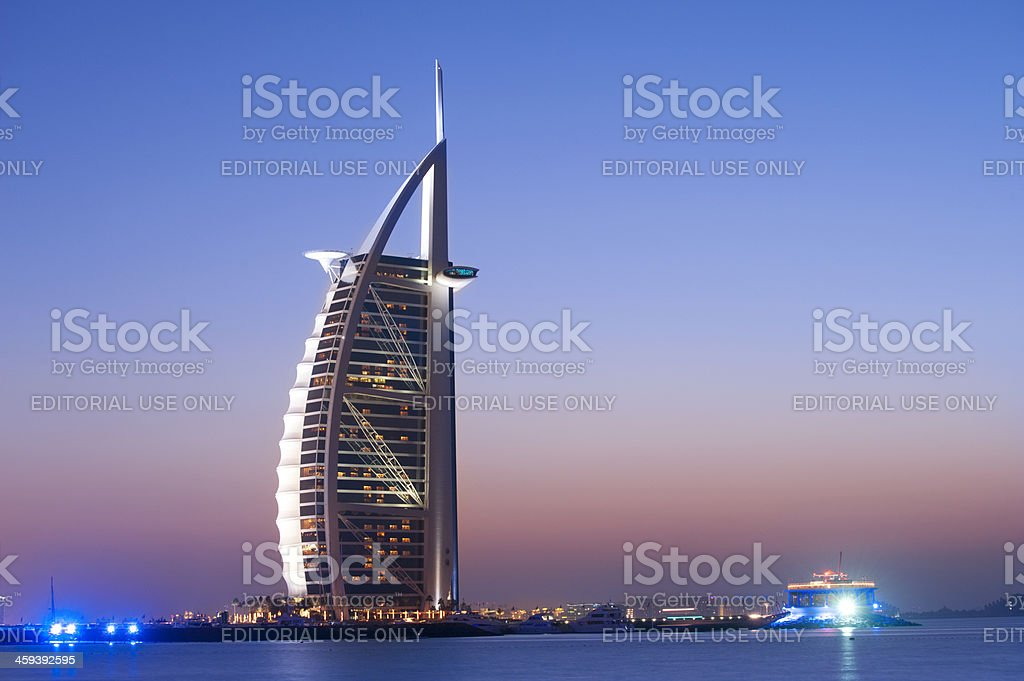 Burj Al Arab Hotel in Dubai United Arab Emirates stock photo