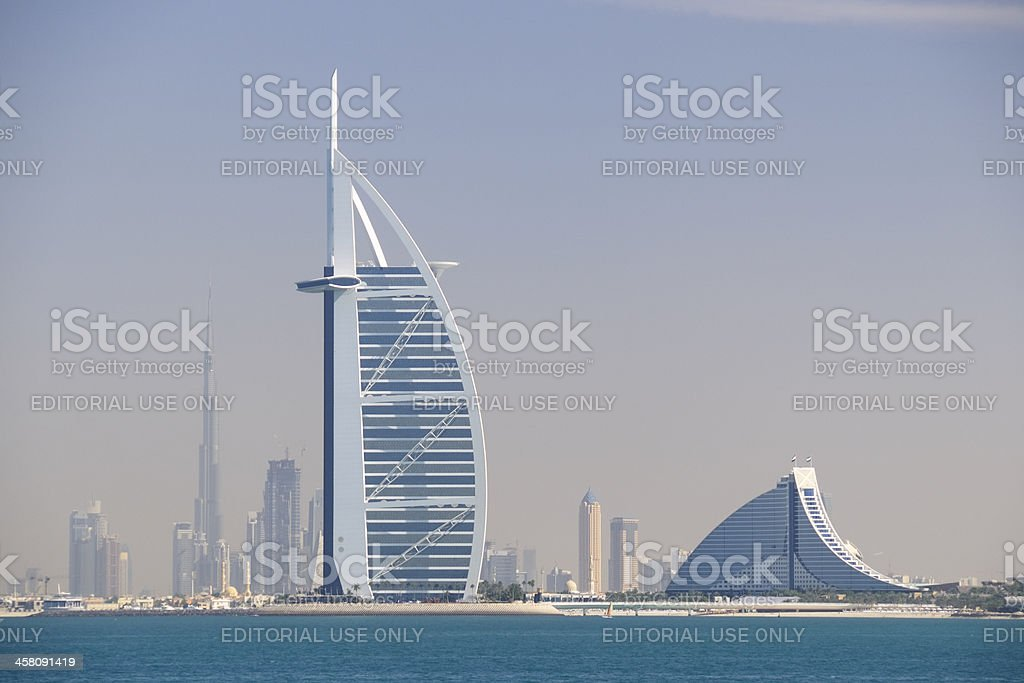 Burj Al Arab, Jumeirah Beach Hotel stock photo