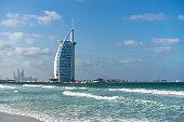 Burj al Arab, one the most famous Dubai landmarks. Dubai, UAE United Arab Emirates, January 2017