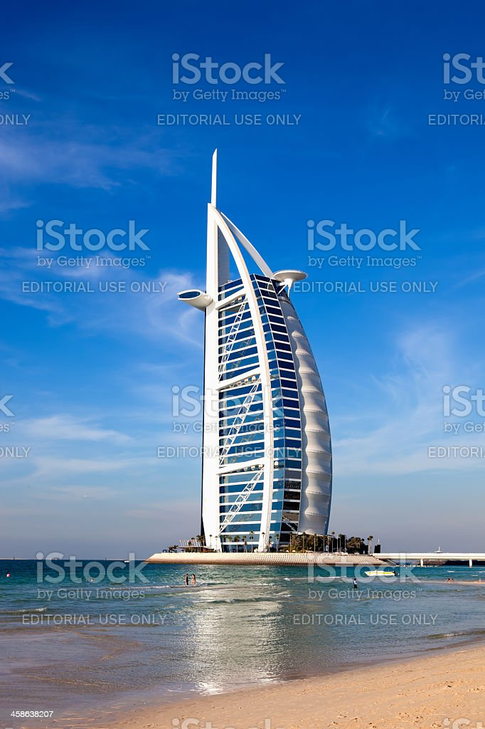 Burj Al Arab El Mundo Más Lujoso Hotel Resort Dubai Foto De Stock Y