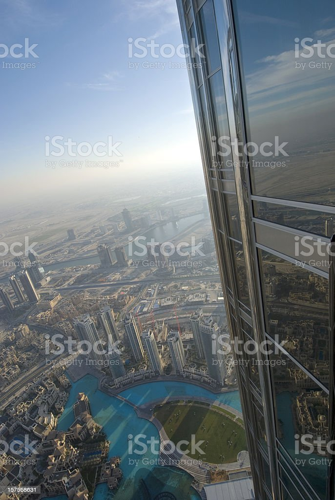 Burj Khalifa and Dubai Skyline royalty-free stock photo