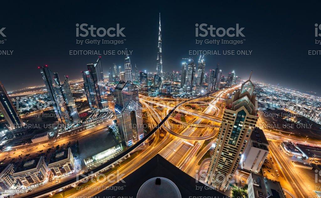 Dubai Downtown Luxury Towers With Burj Khalifa and Shiekh Zayed Road...
