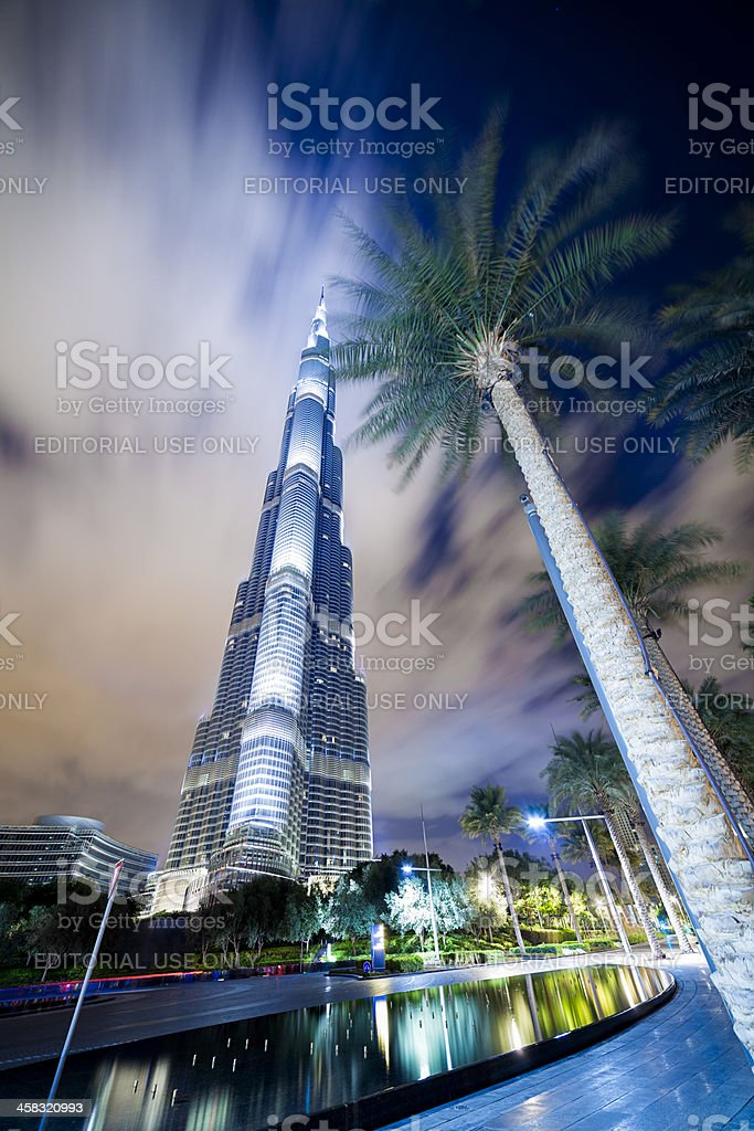 Burj Khalifa, Dubai at dawn. royalty-free stock photo