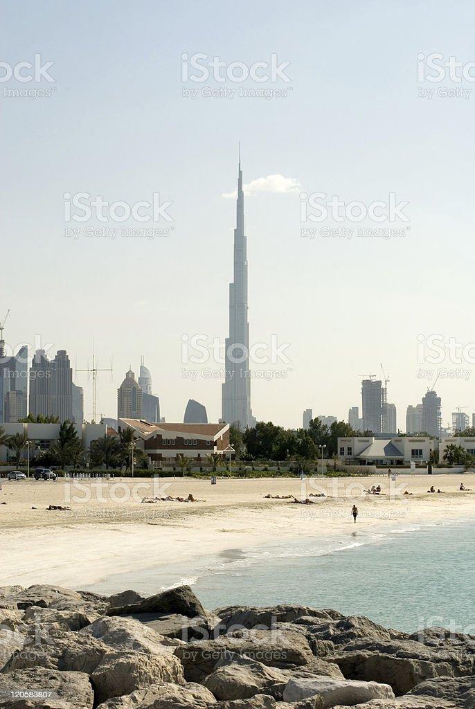 Burj Khalifa, Dubai royalty-free stock photo