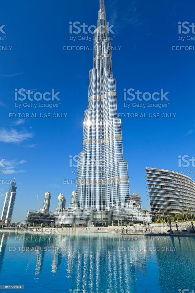 Burj Khalifa - highest building in the world royalty-free stock photo
