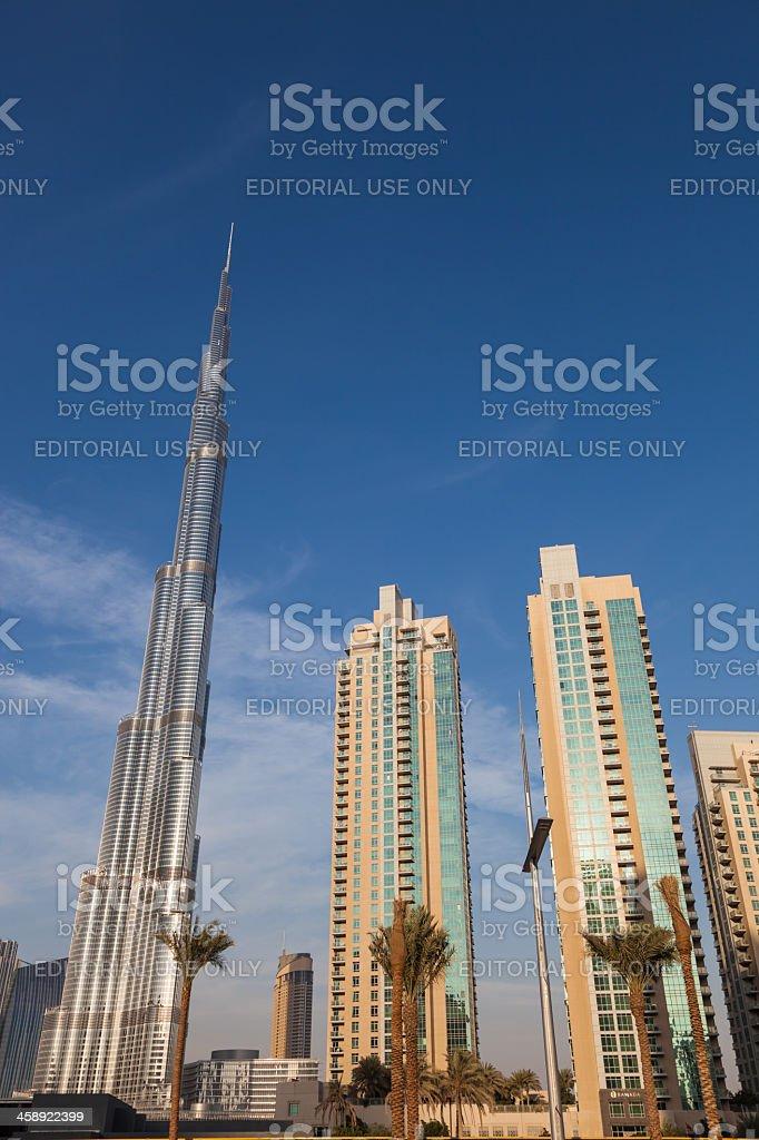 Burj Khalifa, the world's tallest building, Dubai royalty-free stock photo