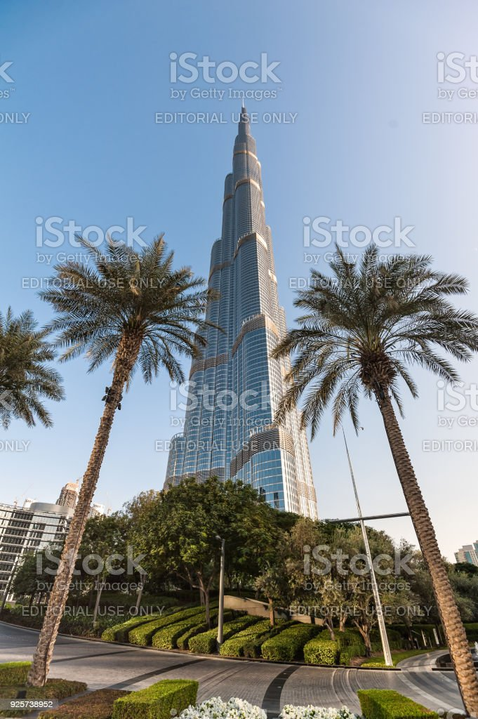 Burj Khalifa tower in Dubai. stock photo